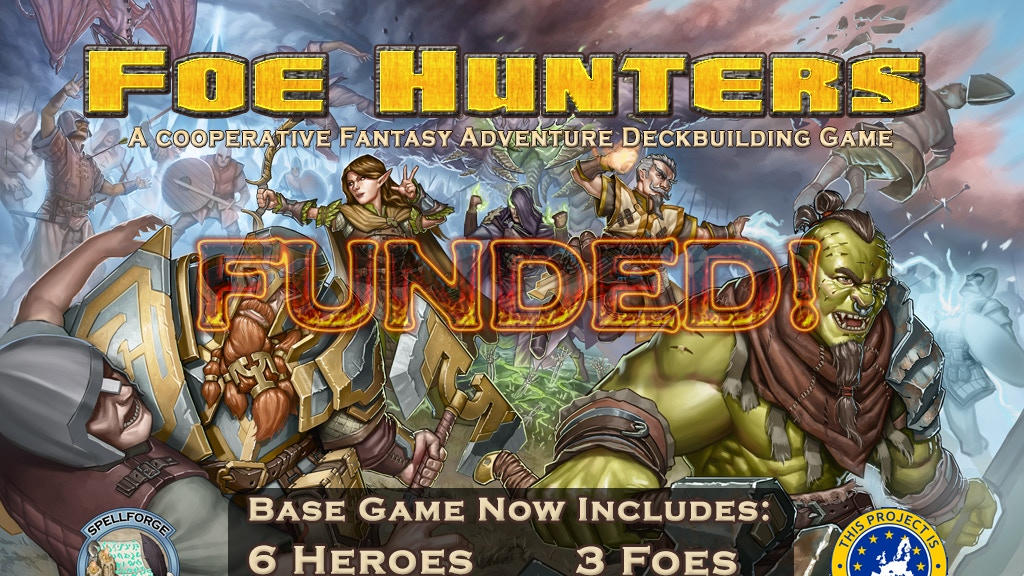 Foe Hunters - A Cooperative Fantasy Deckbuilding Game project video thumbnail