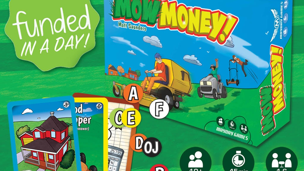 Mow Money REVERSE AUCTION A Game of Undercutting 1-6 Players project video thumbnail