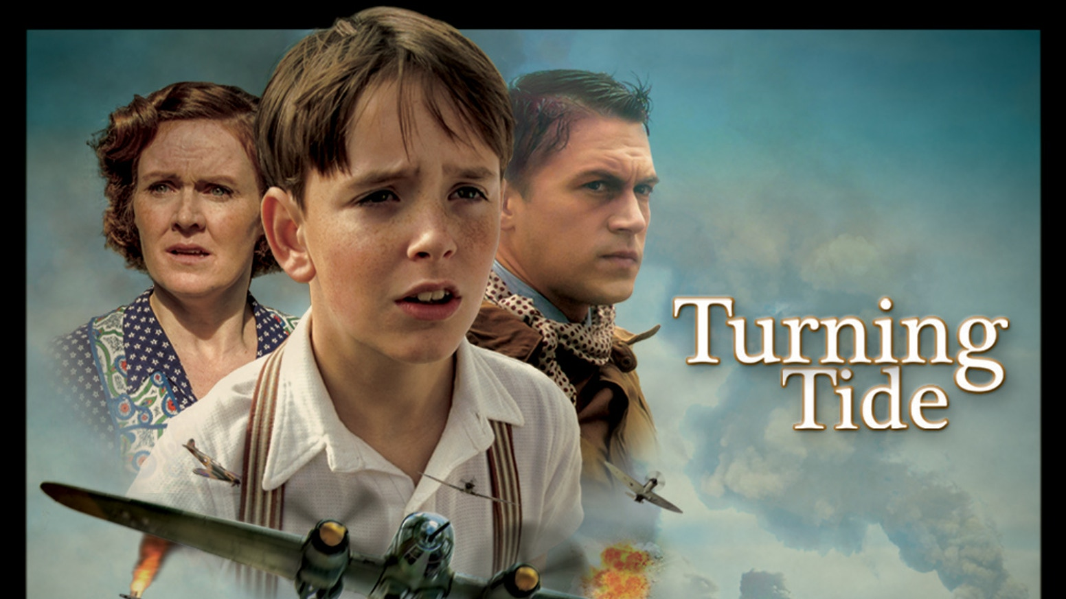 Turning Tide follows the story of a young boy during WWII, as he discovers a mysterious bomber pilot washed up on the Scottish coast.
