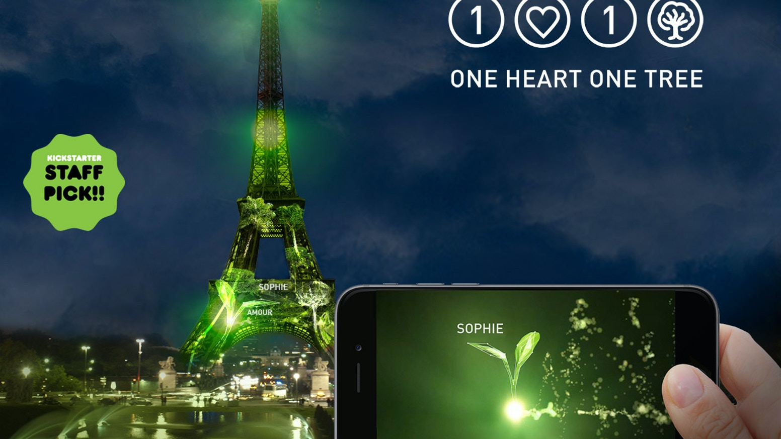 Plant virtual forests on the EIFFEL TOWER and reforest the planet! Des forêts virtuelles sur la TOUR EIFFEL pour reforester la planète! You can continue to contribute and follow us  www.1heart1tree.org