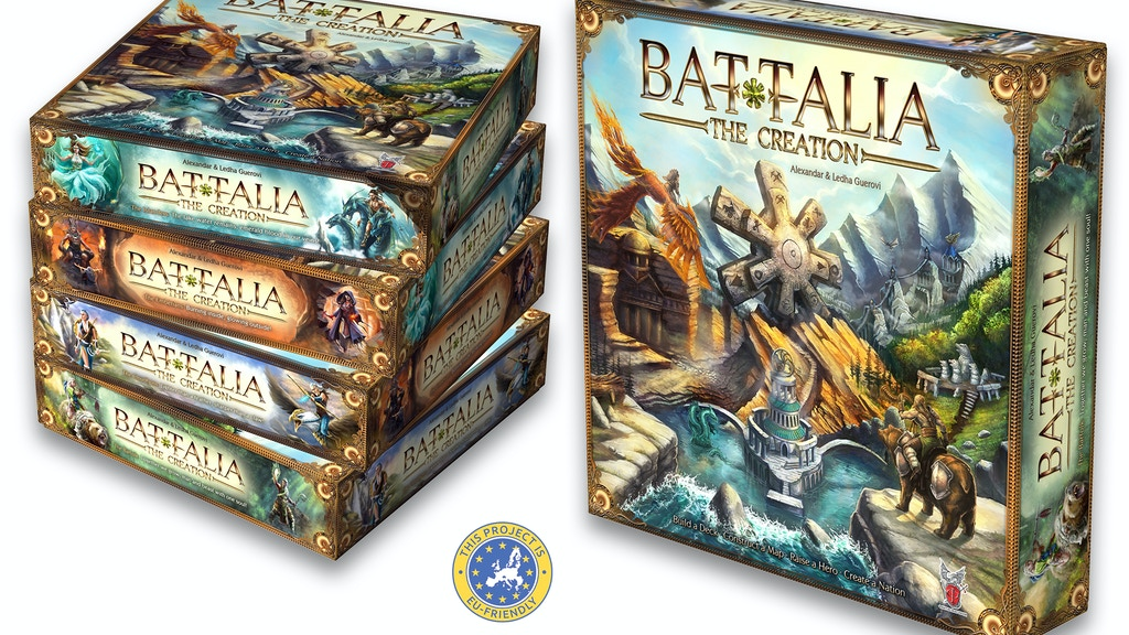 Project image for BATTALIA: The Creation - perhaps your next board game!
