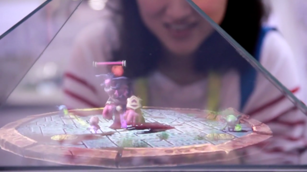 Holus: The Interactive Tabletop Holographic Display project video thumbnail