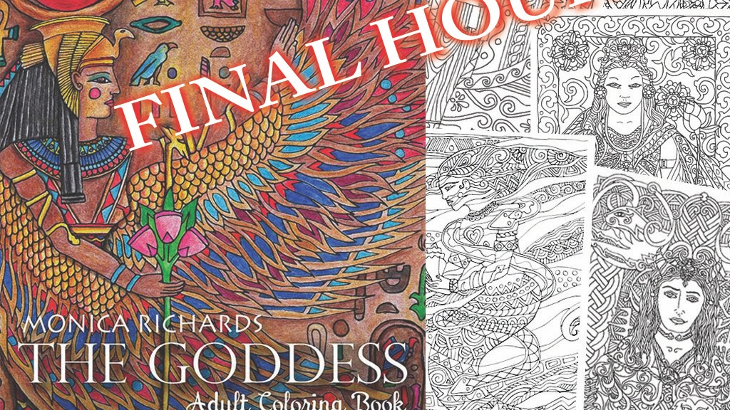 The Goddess by Monica Richards - Coloring Book for Adults project video thumbnail