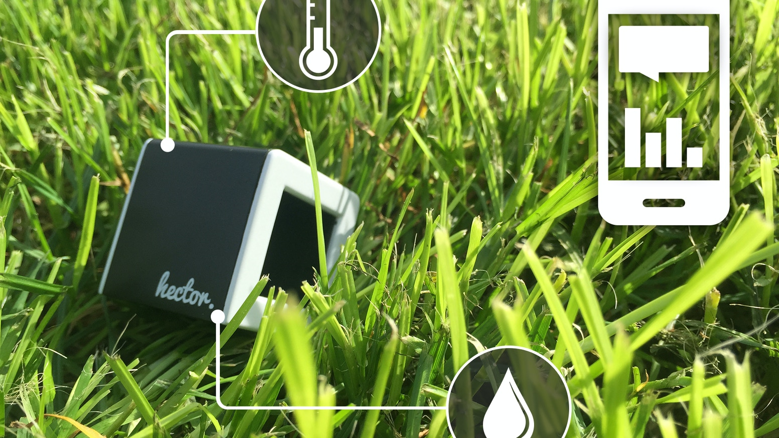 It is a cube, which measures temperature and humidity level. Read and analyze the figures straight on your smartphone.