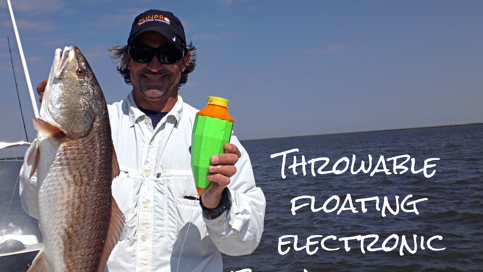 The world's first throwable, floating, electronic fish attractor - it helps you catch more fish! Order yours on our website TheFishCall.com!