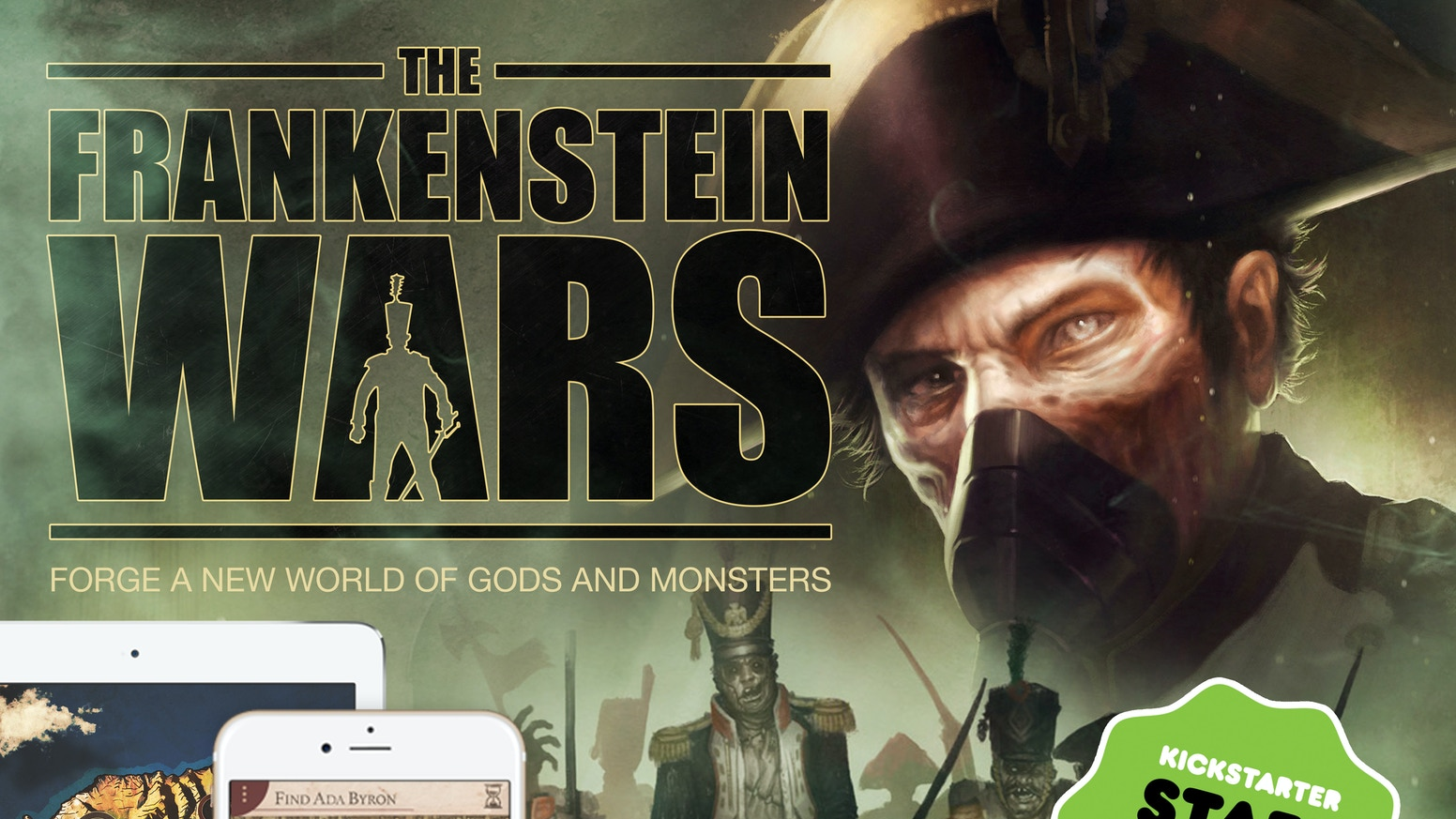 Frankenstein's secrets raise an unstoppable army from the dead. The battle for supremacy. Interactive story (gamebook) of war & horror.