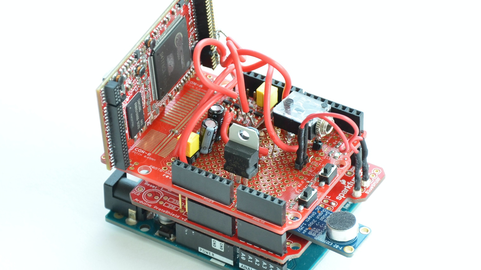MOVI, a standalone speech recognizer shield for Arduino by Audeme