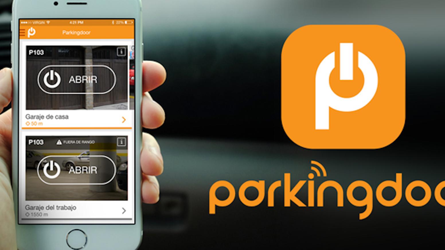Abre la puerta del garaje desde tu smartphone o smartwatch, de manera segura, olvídate de los mandos, y comparte el acceso fácilmente.