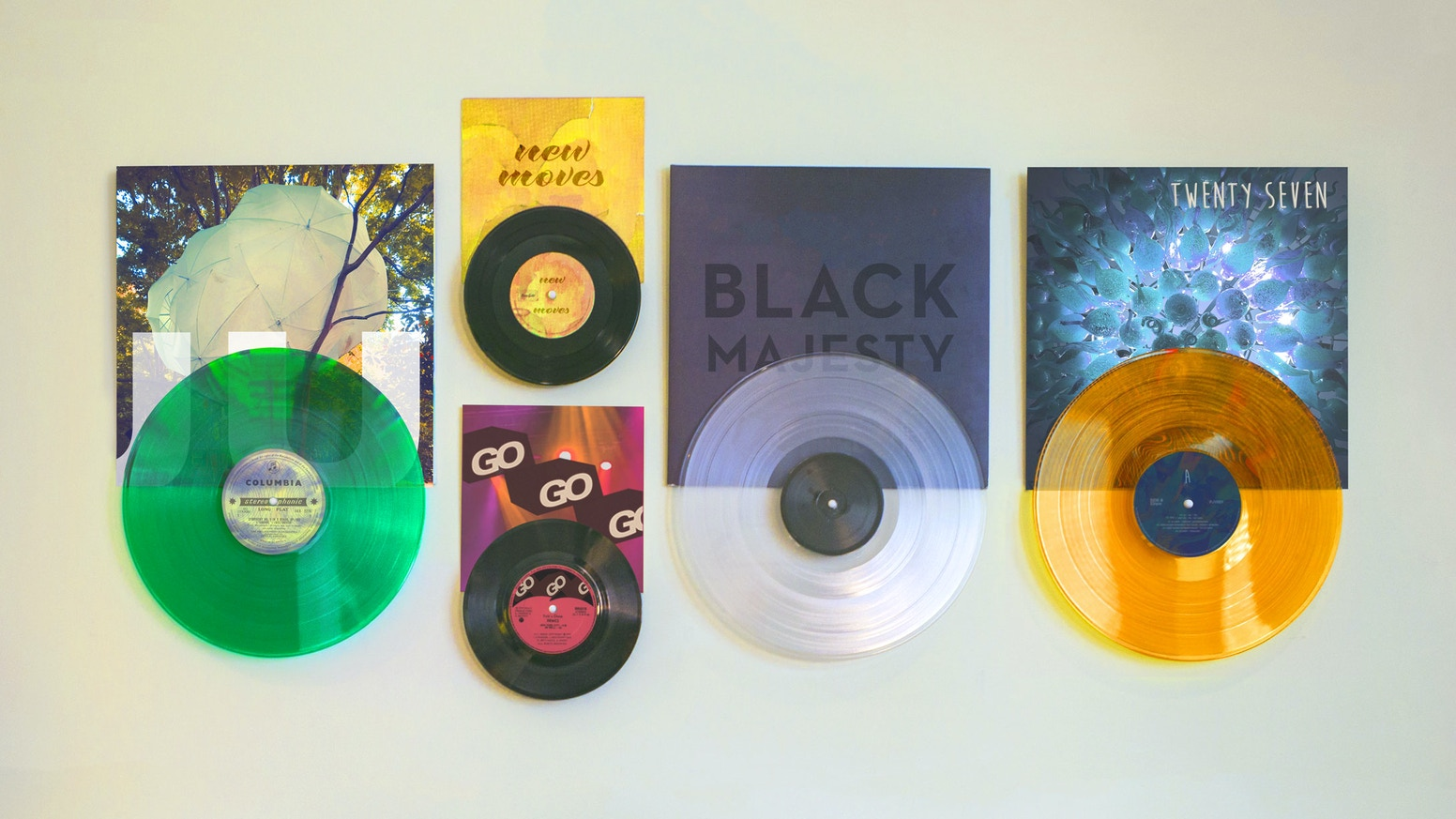 A quick and easy way to display vinyl records, see what's now playing and  share