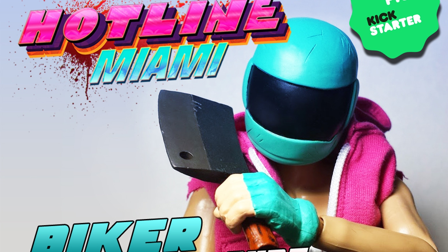"Second 1/6 scale ""12 inch"" Hotline Miami BIKER figure by Dennaton, Devolver Digital and esctoy.com. Second figure in the series."