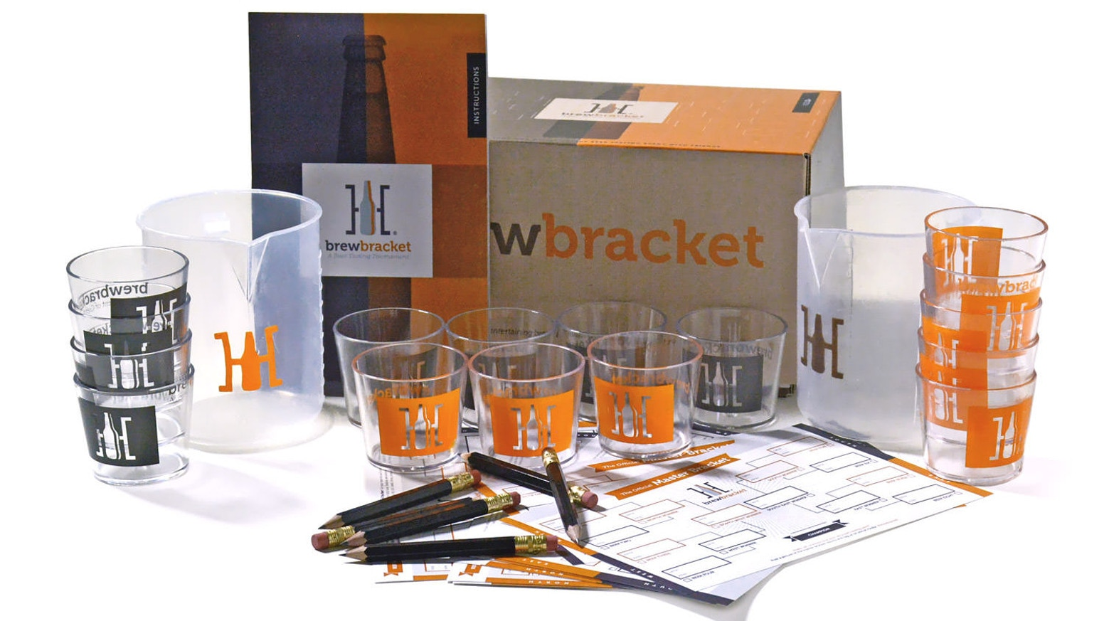 Brew Bracket is a beer tasting party in a box. Get all you need to compare 8 beers in a head to head blind tournament with friends.