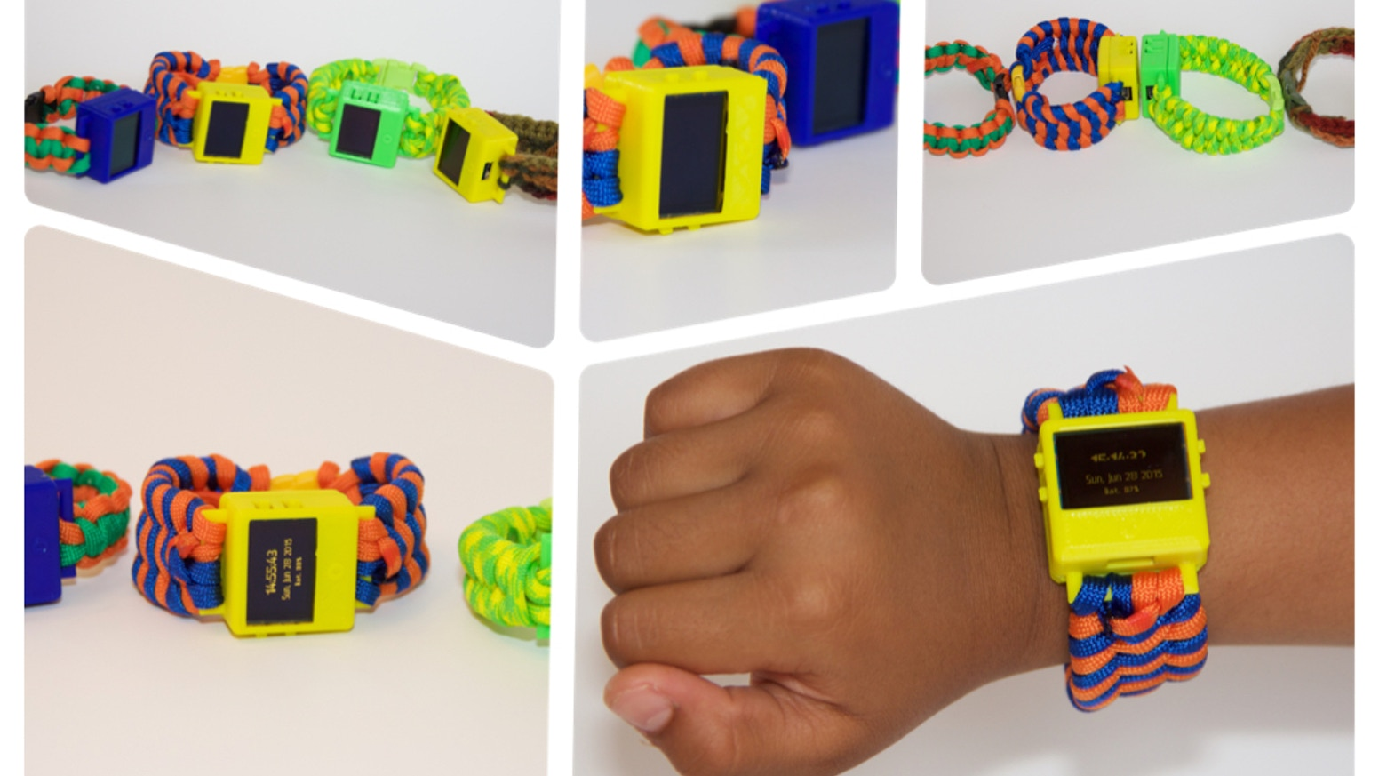 O Watch is a perfect smartwatch kit for kids to learn programming, 3D printing and crafts.