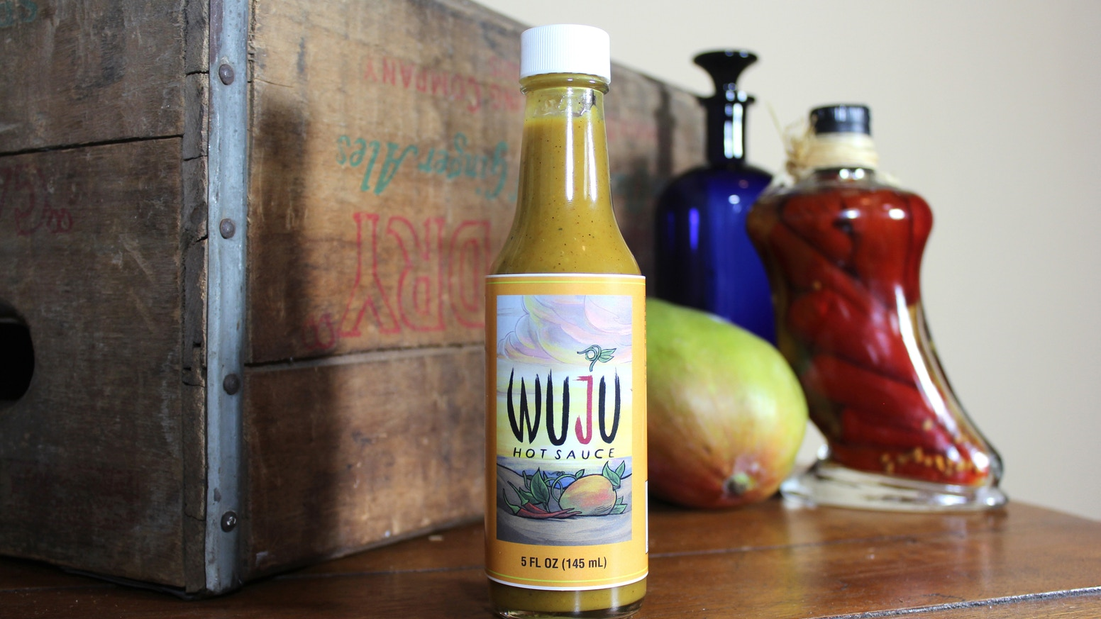 WUJU's habanero, mango, agave nectar, and rich spices blend Thai style flavors with perfect, wholesome heat and sweetness. www.wujuhotsauce.com