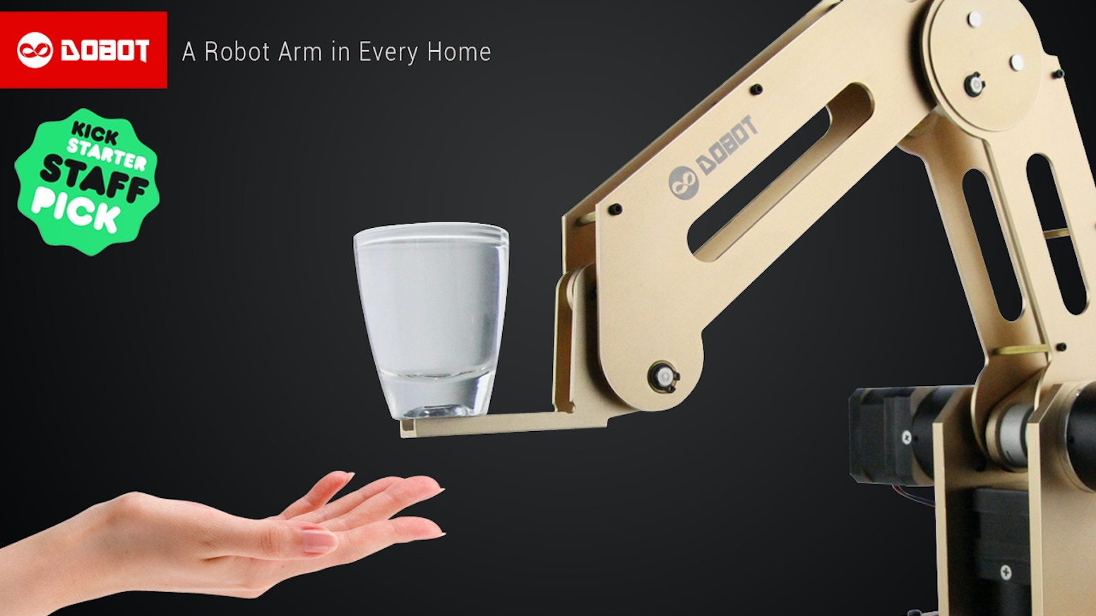 For DESKTOP. Arduino-based, 4-axis parallel-mechanism Robot Arm, 0.2mm precision! Bring industrial robot to everyone. Effective tool.