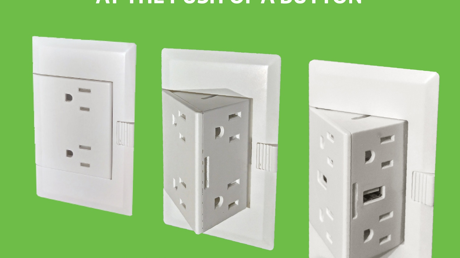 theOUTlet doubles the amount of outlets where you need them, when you need them, with the simple push of a button!