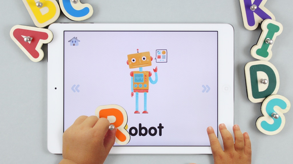 Smart Letters - beautiful connected toy for kids project video thumbnail