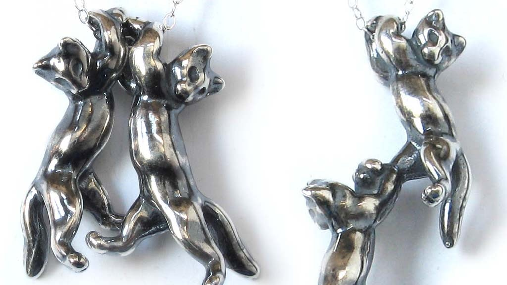 SILVER KITTENS! Baby cat pendants that cling onto chains. project video thumbnail