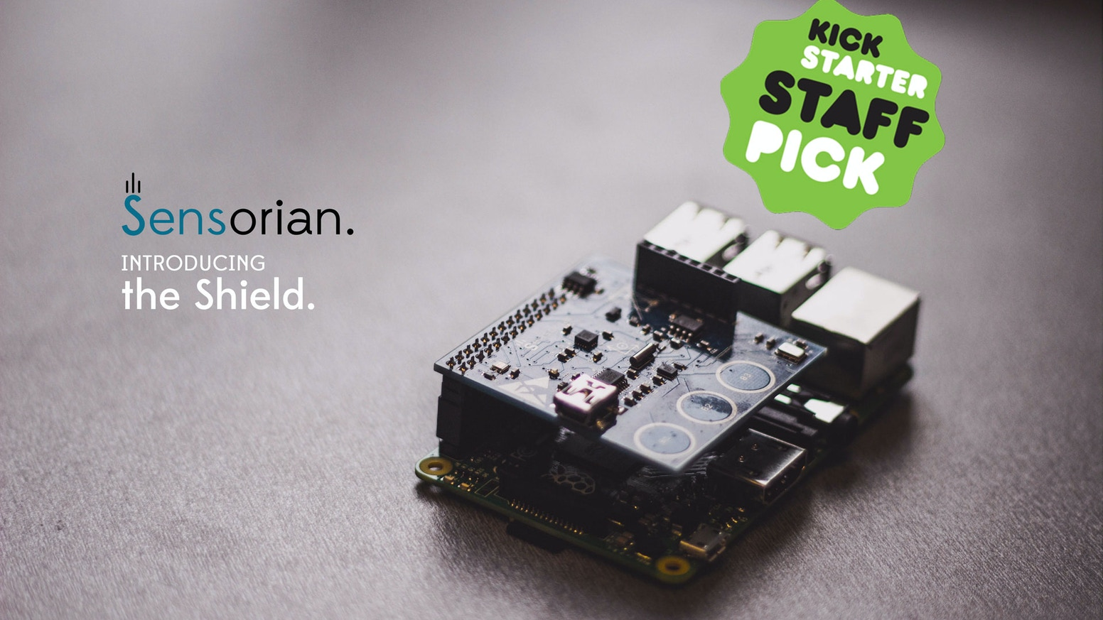 Supercharge your Raspberry Pi with our sensor-packed shield. Harness the physical world in your projects and applications!
