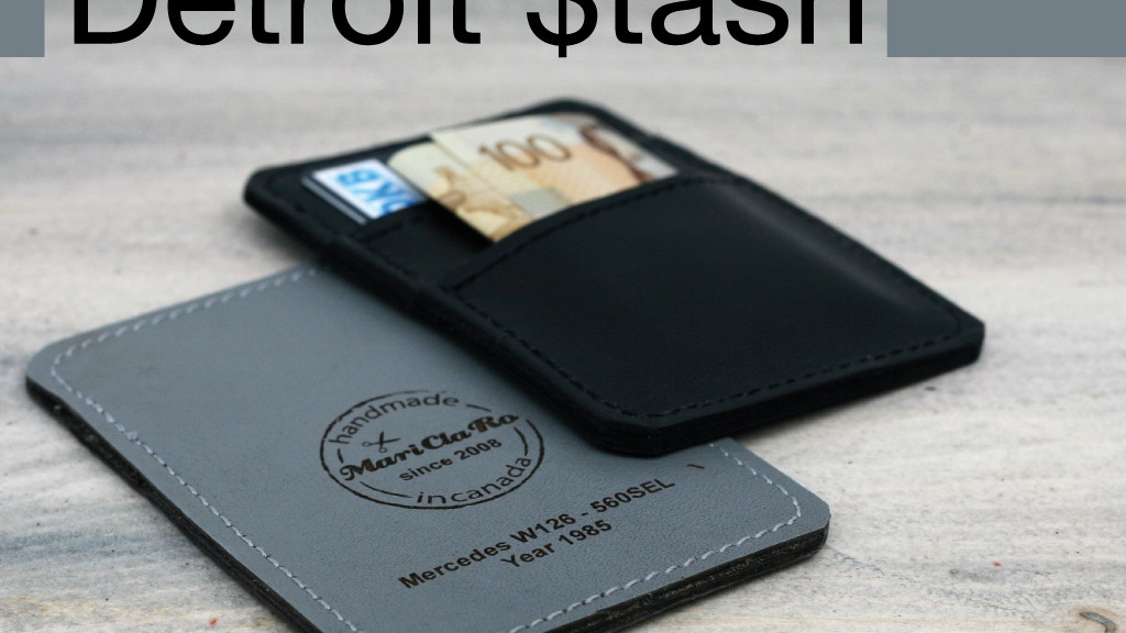 Detroit $tash - a Minimalist Wallet handmade in Canada project video thumbnail