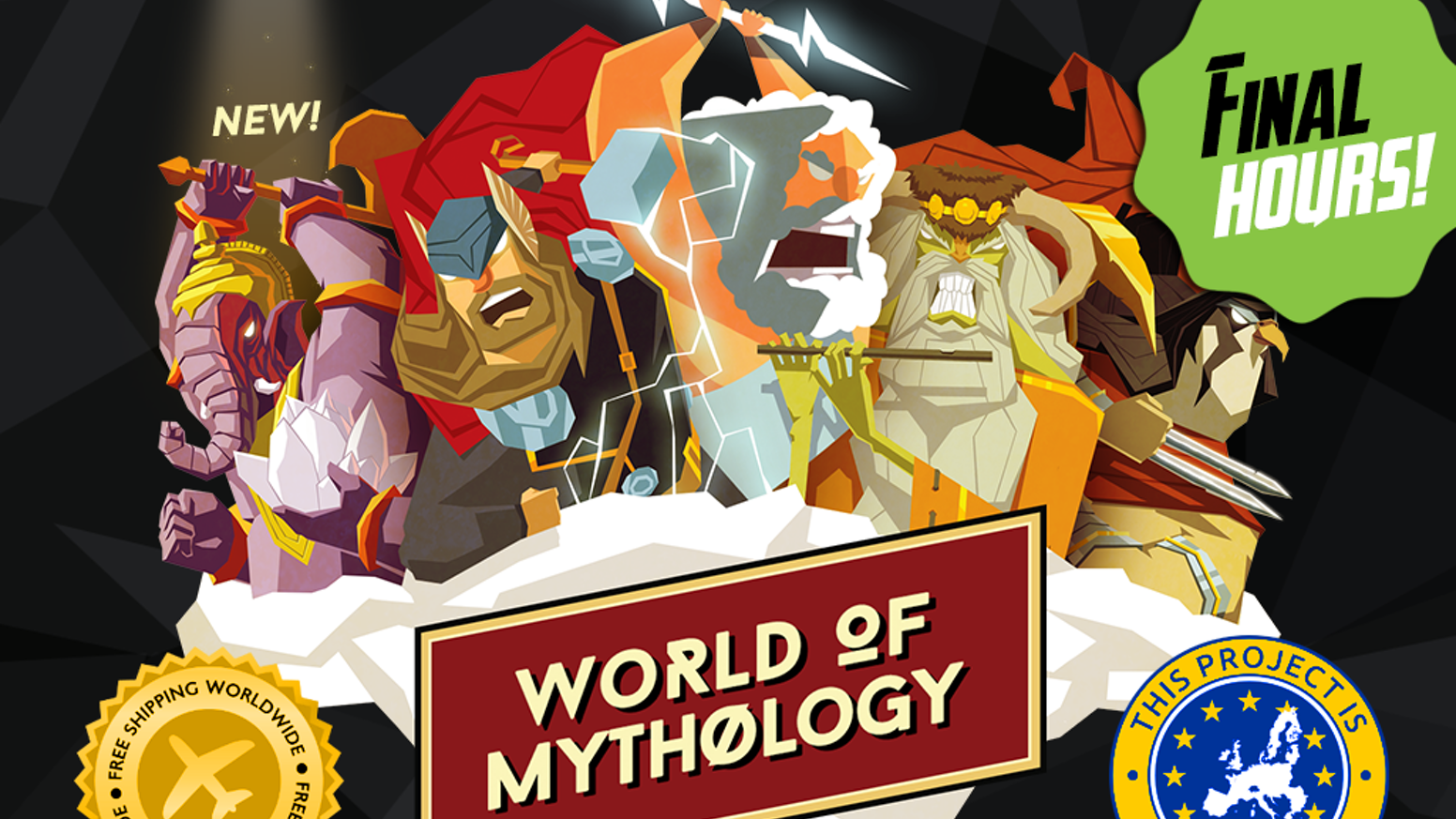 WOM is a card game in which gods from different mythologies use their powers to win the supernatural combat! Wanna play like a god?