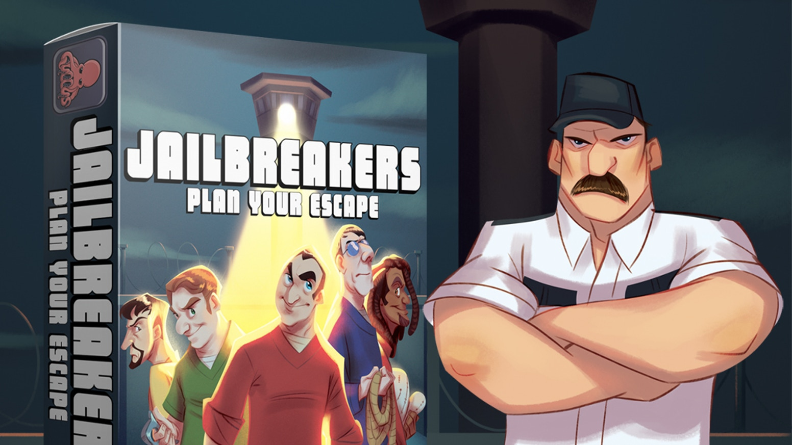 Jailbreakers: Plan Your Escape is a press your luck dice and card game where you take on the role of prisoners plotting their escape!