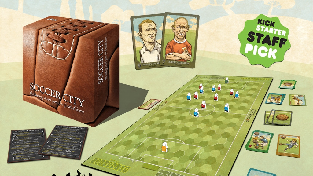 SOCCER CITY, the strategy board game for football lovers project video thumbnail
