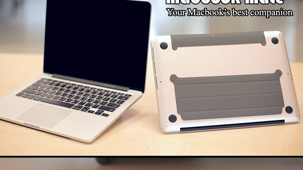 Macbook Mate = Ultra thin smart stand + Aluminum dust plugs project video thumbnail