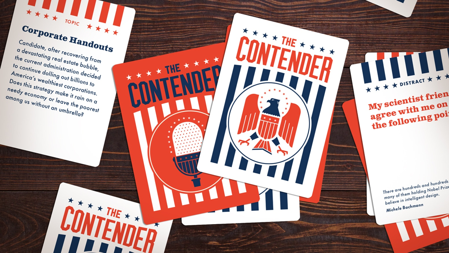 In the grand tradition of presidential debates comes a social card game straight from the eagle's beak of American democracy. Get your copy today.