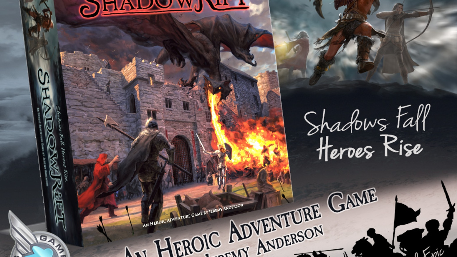Join our quest to bring back Shadowrift, an Heroic Adventure Game™ in an impressively upgraded 2nd Edition.