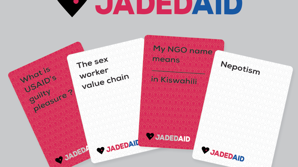 JadedAid - a card game to save humanitarians project video thumbnail