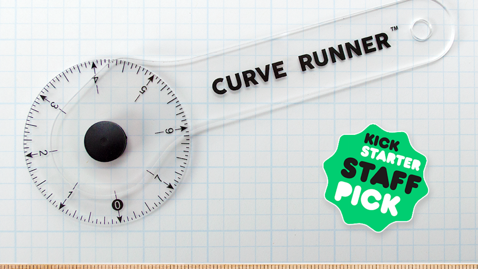 Super fast and accurate!  Clear acrylic lets you see through the ruler, never leaving your line out of sight.