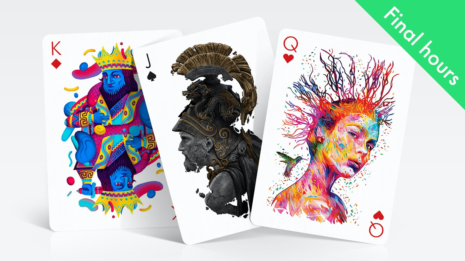 Unique playing card decks where each card is illustrated by different international artist in his distinct style and technique.