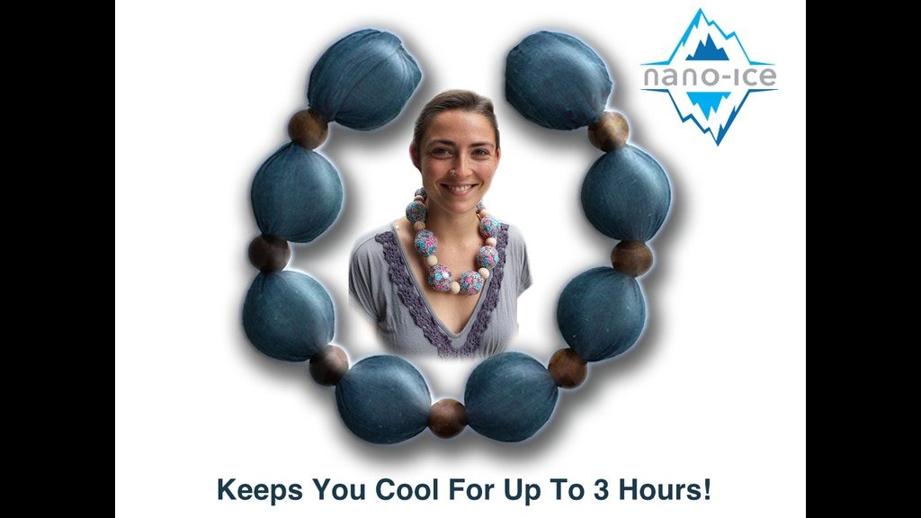 Cooling Necklaces That You Freeze : Nano ice cool collar the freezer charged cooling necklace