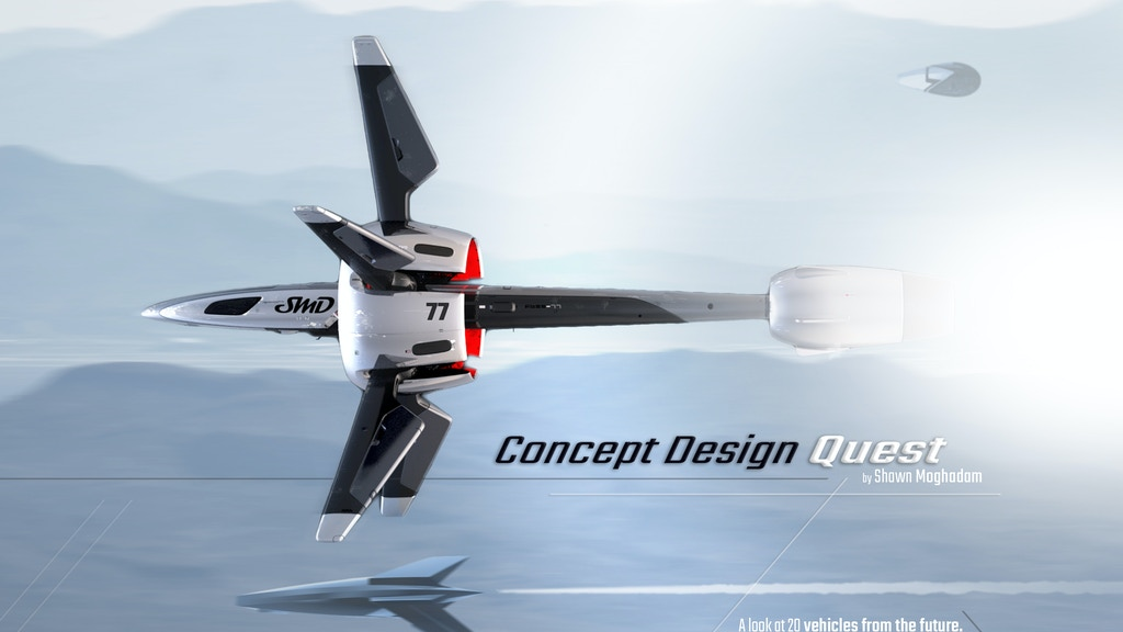 Concept Design Quest - A book about 20 futuristic vehicles project video thumbnail