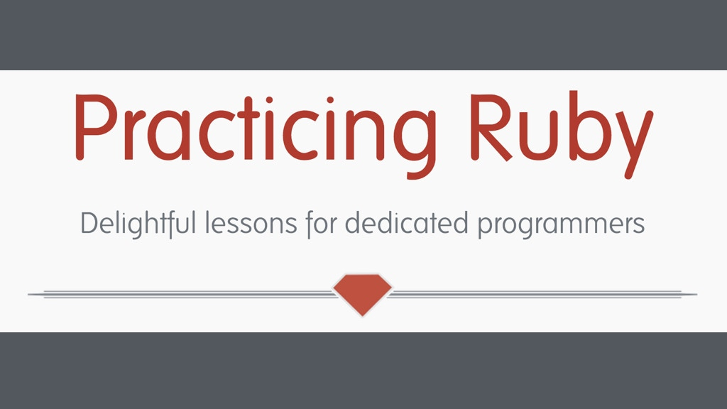 Practicing Ruby Contributors Fund project video thumbnail