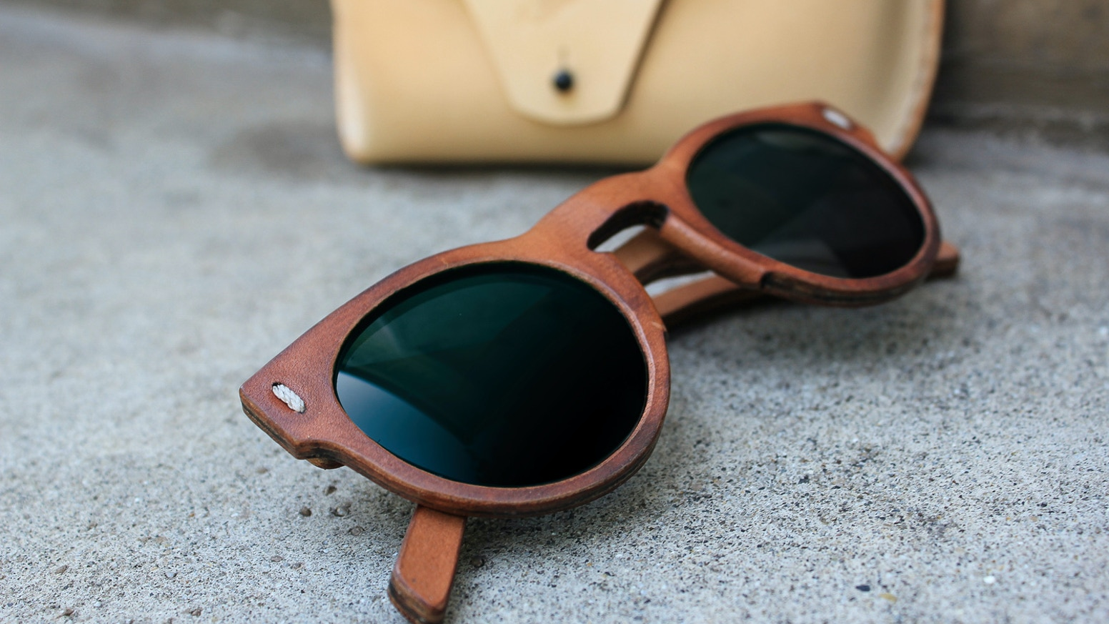 6cc4776375 Jbird Collective    The First All Leather Sunglasses by Justin Pyle ...