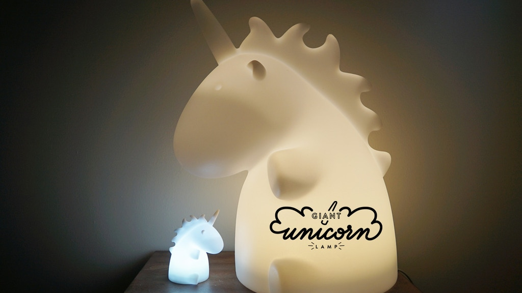 Giant Unicorn Lamp project video thumbnail