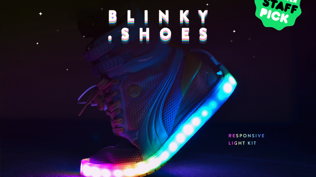 BLINKY.SHOES - Blinky LED strips to light up your shoes project video thumbnail