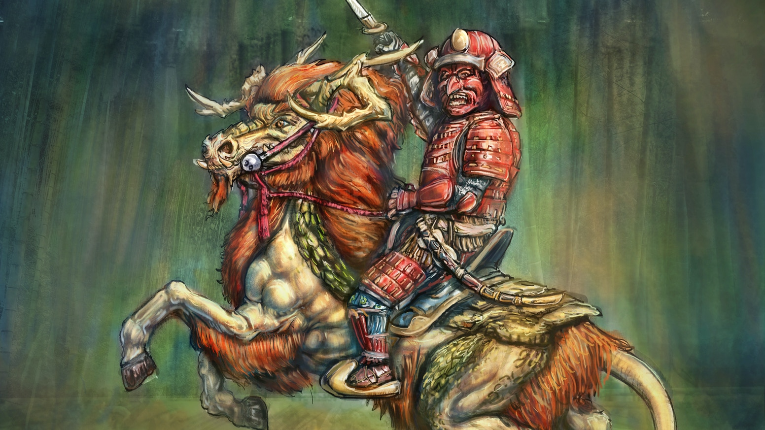 Following the success and fulfilment of our previous Samurai Dwarf project we are adding some cavalry to the mix.
