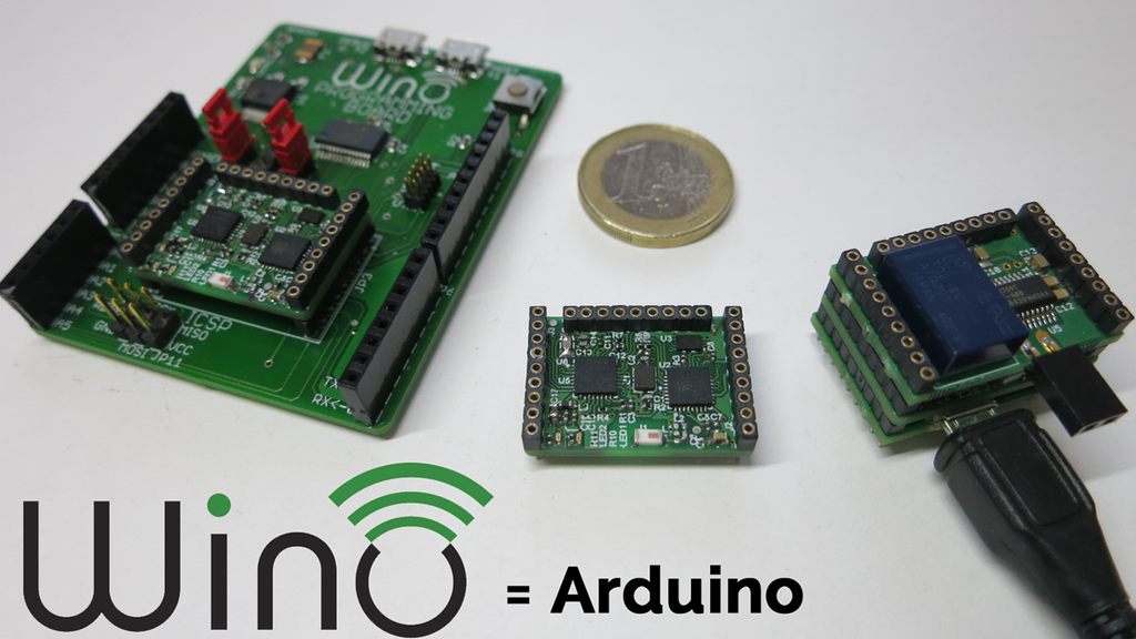 Wino board - The tiny, 10€ Arduino with WiFi! project video thumbnail