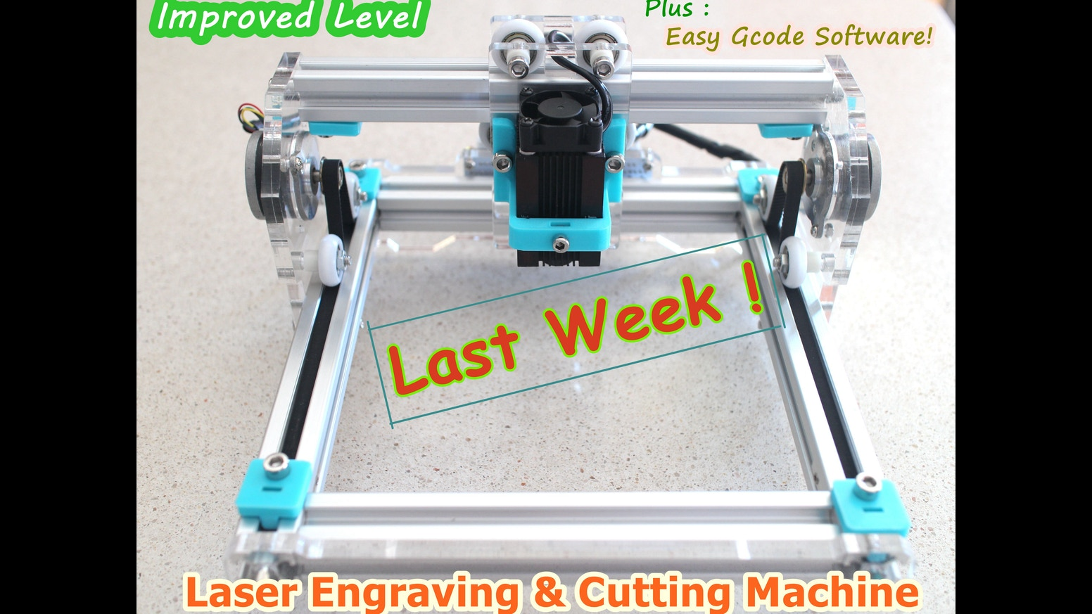 Laser Cube 2.0 + EasyGcode Software for All Laser Machines ...