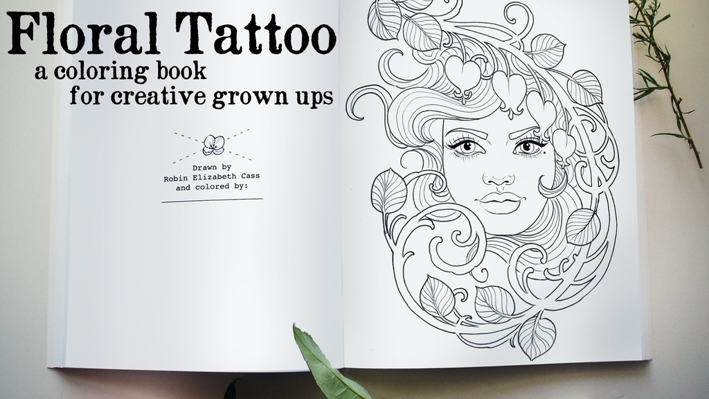 Floral Tattoo - A Coloring Book for Adults project video thumbnail