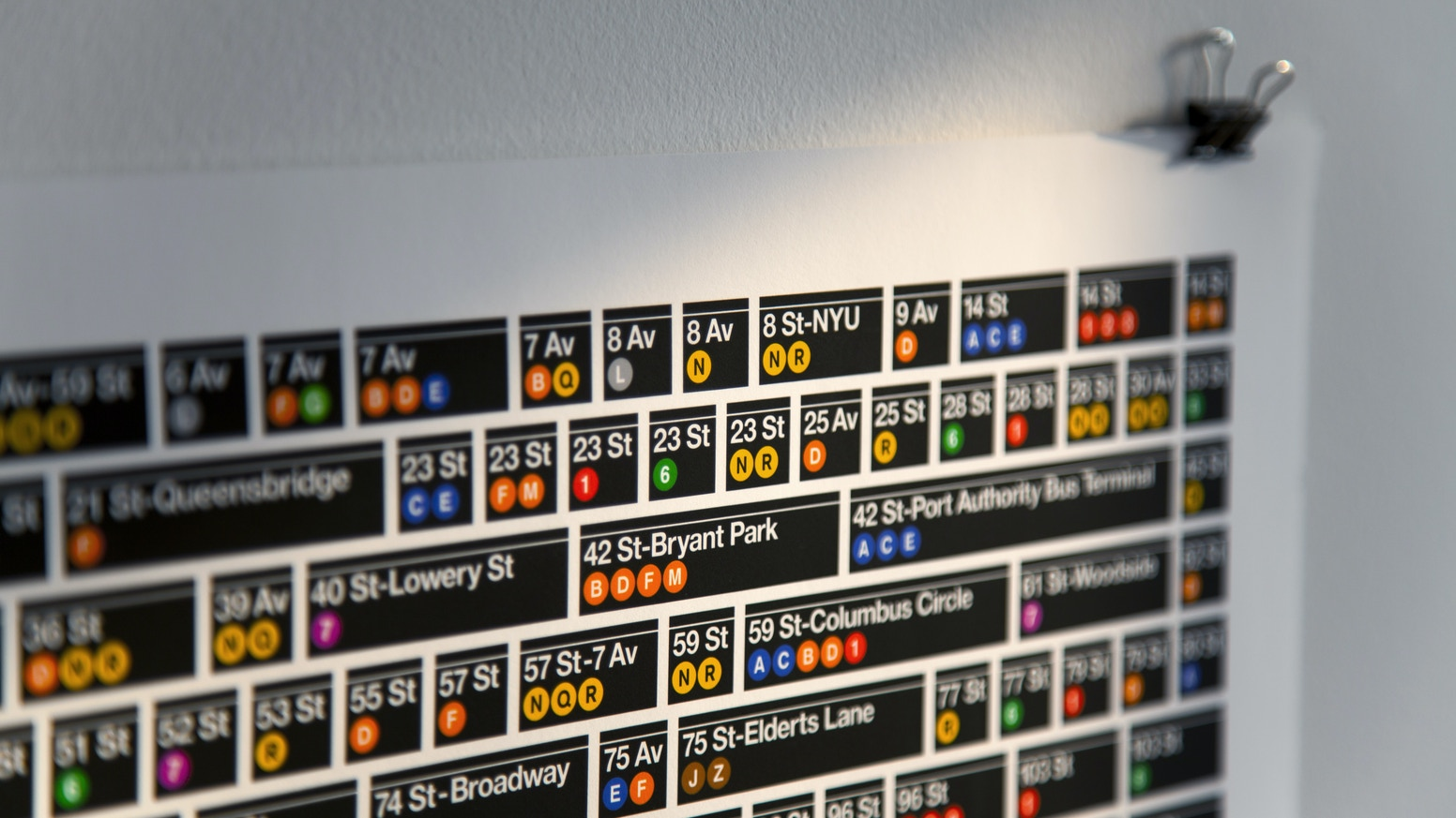 An 11 Pantone® spot color poster featuring every one of the 469 New York  City