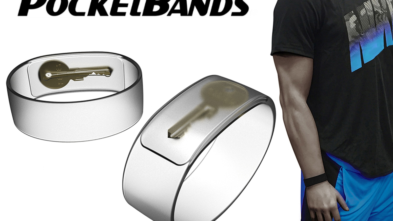 POCKETBANDS™ - Stash Keys, Money and More! New Slim Design Wristband with a Hidden Pocket.