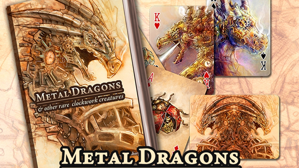 Metal Dragons & Clockwork Creatures - Playing Cards & Books project video thumbnail