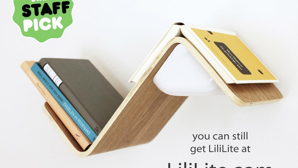 LiliLite: The All-in-One Book Lamp, Shelf, and Mark. project video thumbnail