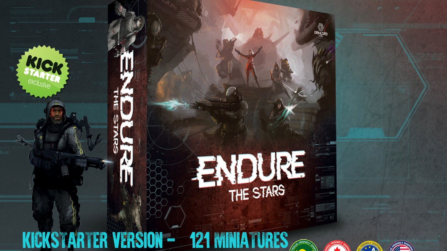 An epic 1-6 player Sci-Fi co-op fight for survival, set amongst the ruins of the N.W.E. Hikari spaceship, now with 121 miniatures.