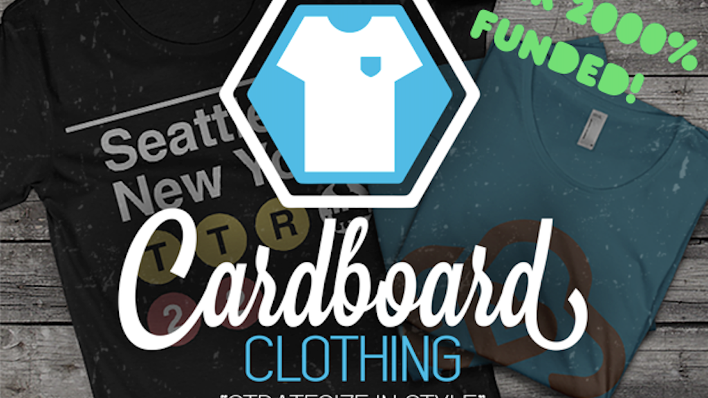 Cardboard Clothing - Apparel for the Modern Board Gamer project video thumbnail