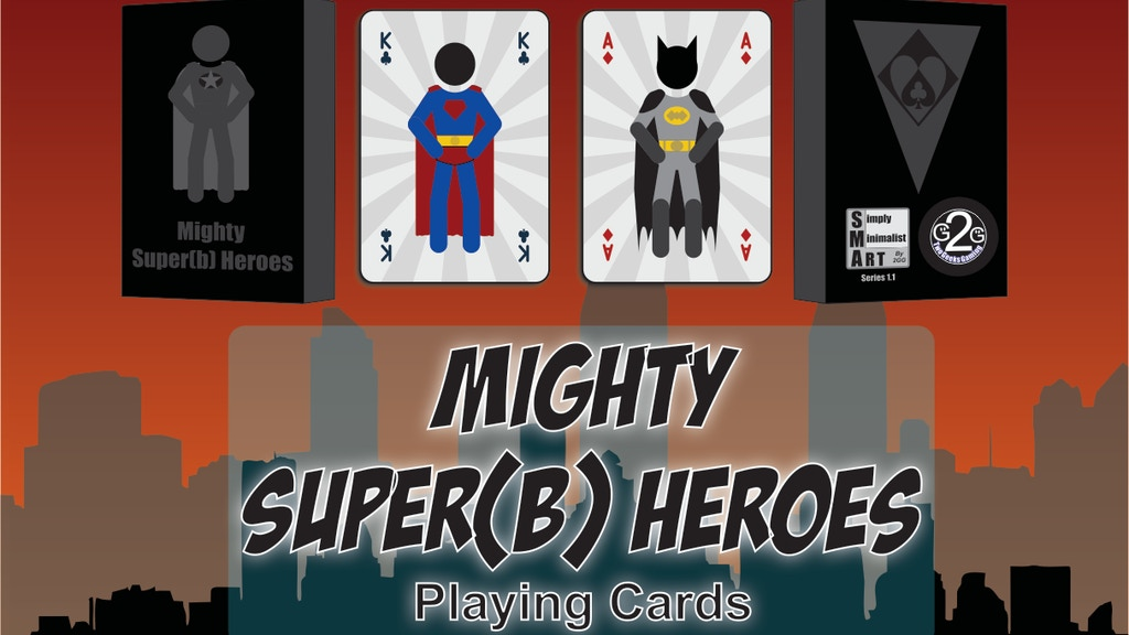 Project image for Mighty Super(b) Heroes - Playing Cards (Cancelled)