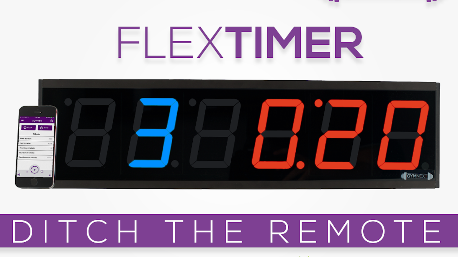 flex timer bluetooth enabled interval training wall clock by duane